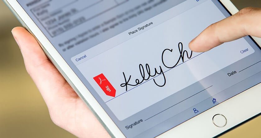 firma digital en el ipad