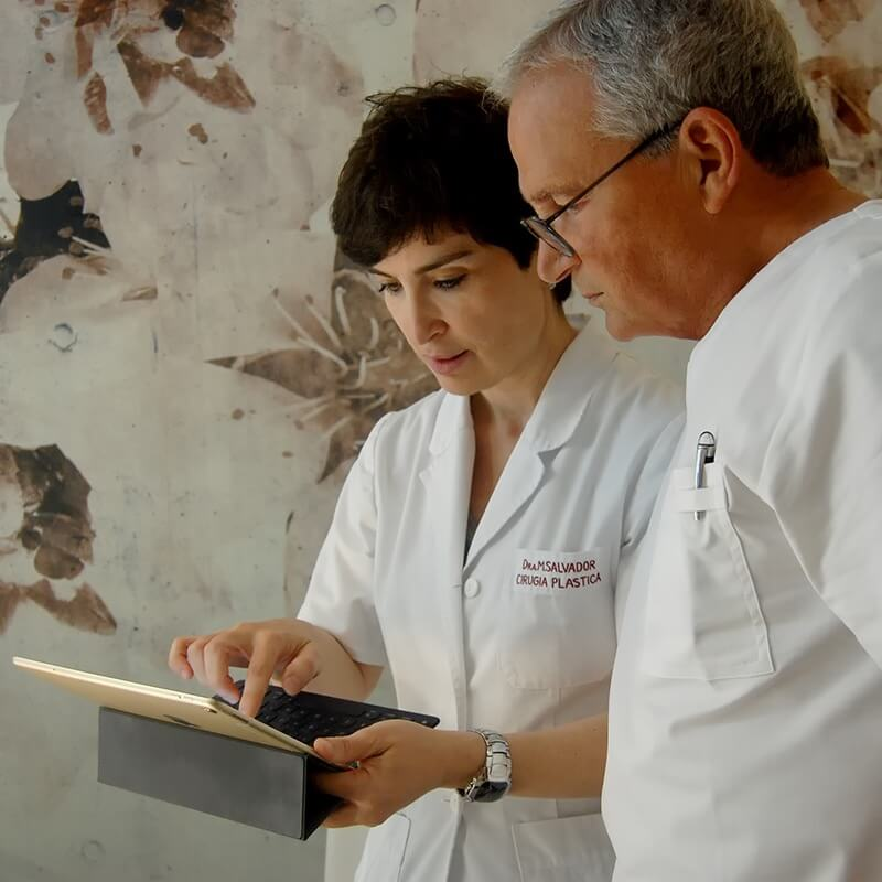 dra salvador y dr gregorio programando visitas